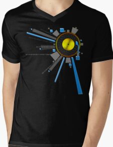 Digital Gold Record Mens V-Neck T-Shirt