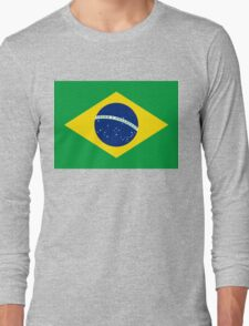 Flag of Brazil Horizontal Long Sleeve T-Shirt