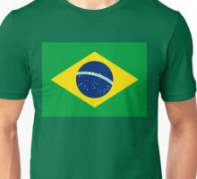 Flag of Brazil Horizontal Unisex T-Shirt