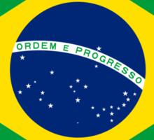 Flag of Brazil Horizontal Sticker