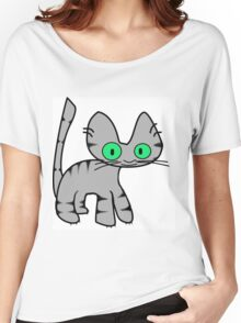 Gray Tiger Kitty Women's Relaxed Fit T-Shirt