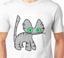Gray Tiger Kitty Unisex T-Shirt