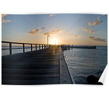 Sunset at kingfisher resort Poster