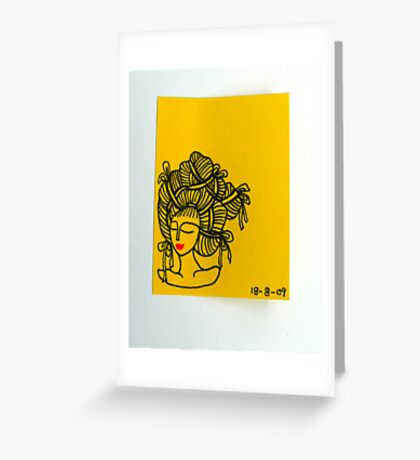 Tiny Diary: 'Bak Chang' Hair Greeting Card