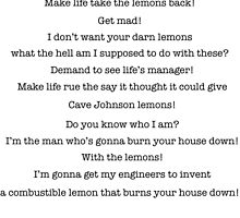 Lemon Grenade Speech by Sam Whitelaw