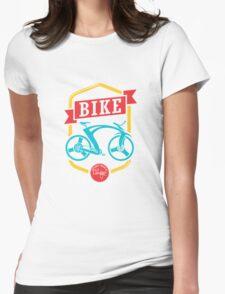 Bike Pop Art Black Womens Fitted T-Shirt