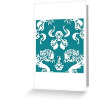 DRAGON PATTERN TEAL Greeting Card