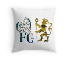 frank lampard & didier drogba chelsea fc logo photo drawing Throw Pillow