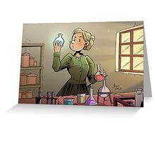 Marie Curie Comic Cover Greeting Card