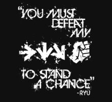 Ryu Win Quote White by Reshad Hurree