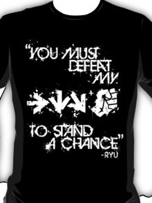 Ryu Win Quote White T-Shirt