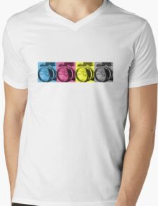 CMYK Camera T-Shirt Mens V-Neck T-Shirt