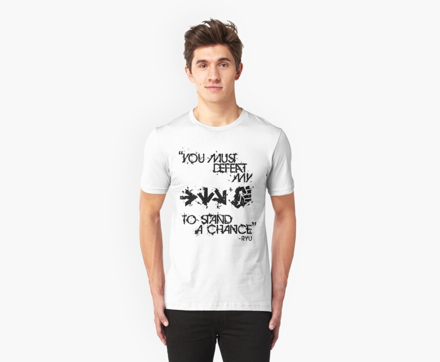 Ryu Win Quote Black by Reshad Hurree