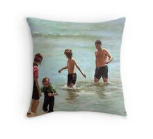 Dad, Can I Have A wetsuit? Throw Pillow