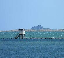 Holy Island Causeway at High Tide by hoppityhops