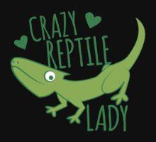 Crazy Lizard reptile Lady 2 Baby Tee
