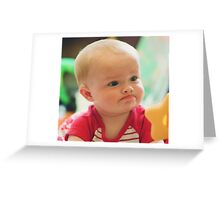 Grandson pondering Greeting Card