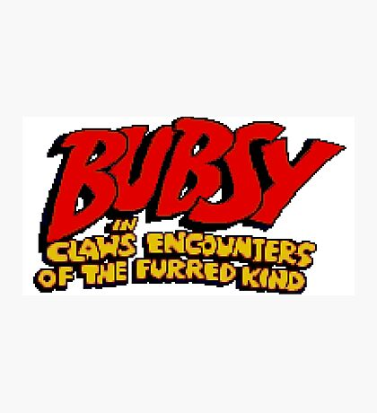 Bubsy - SNES Title Screen Photographic Print