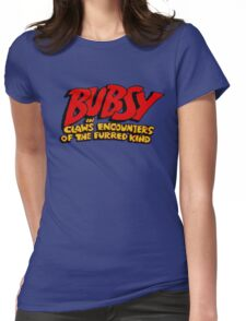 Bubsy - SNES Title Screen Womens Fitted T-Shirt