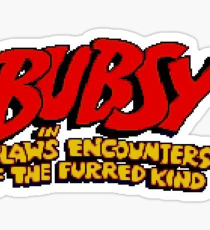 Bubsy - SNES Title Screen Sticker
