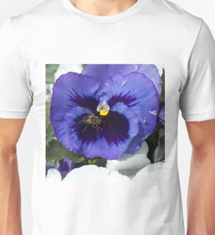 Purple Pansy Face Unisex T-Shirt