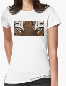 Tiger Eyes - Digital Painting Womens Fitted T-Shirt