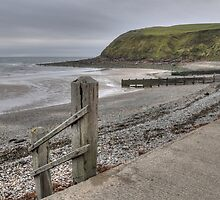 The beach at St Bees in Cumbria. by Simon Hathaway