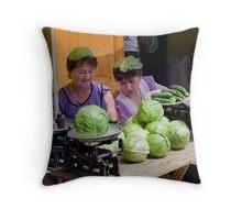 Cabbage Heads, Chortkiw Market, Ukraine Throw Pillow