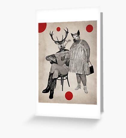 Anthropomorphic N°4 Greeting Card