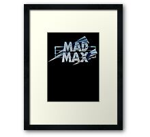 Mad Max film title Framed Print