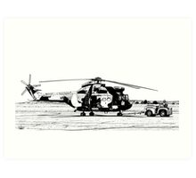 Aerospatiale SA-330H Puma Helicopter  Art Print