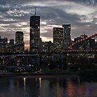 Sundown Over Brisbane by Marylou Badeaux