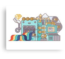 Rainbow Factory Metal Print
