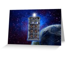 Time and Space travel Steampunk machine Greeting Card