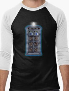 Time and Space travel Steampunk machine Men's Baseball ¾ T-Shirt
