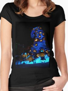 Nightmare or pumpkins before christmas Women's Fitted Scoop T-Shirt