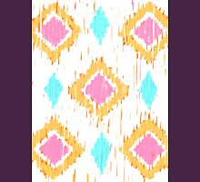 Simple Painterly Ikat 2 Womens Fitted T-Shirt