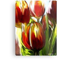 Tulip Brush Metal Print