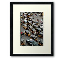 YELLOW AUTOCABS OF HYDERABAD Framed Print