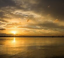 Golden Sunset over Pumicestone Passage by JLOPhotography