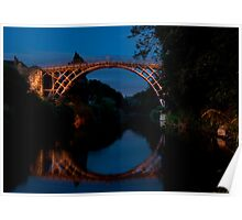 Ironbridge at night Poster