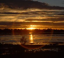 Sunset over Lake Wendouree in Drought by AusDisciple