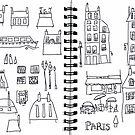 Paris sketches page 1 by Nic Squirrell