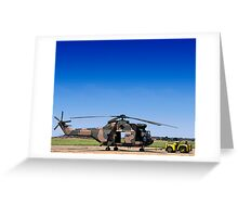 Aerospatiale SA-330H Puma Helicopter Greeting Card