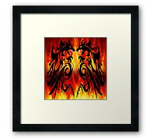 DRAGONS FIGHTING Framed Print