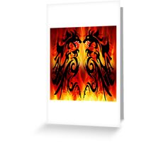DRAGONS FIGHTING Greeting Card