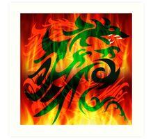 DRAGON IN FLAME Art Print