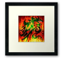 DRAGON IN FLAME Framed Print