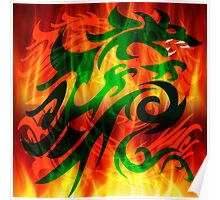 DRAGON IN FLAME Poster