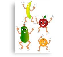 Happy Fruit Canvas Print